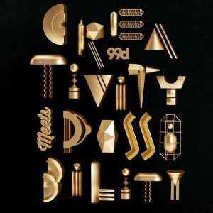 A creative and fun metallic poster. By Pinch Studio.